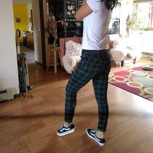643497876e19a0 Forever 21 Pants | F21 Grunge Plaid Army Green Skinny | Poshmark